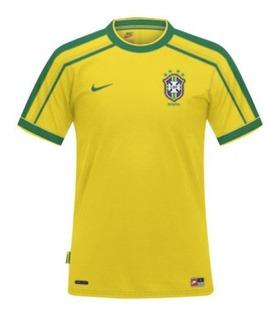 Camisa Nike Brasil Retrô 1998 - #6 Roberto Carlos