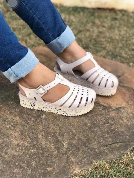 Sandálias Aranha Casual Feminina Tratorada Plataforma
