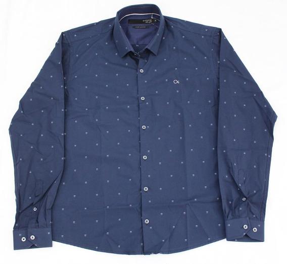 Camisa Ogochi Masculina Social Marinho 001418172