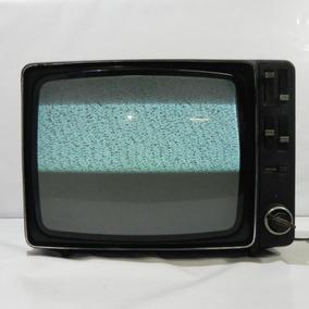 Tv Philips Antiga Retrô Preto E Branco - Usado