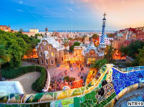 Papel De Parede Pontos Turisticos Espanha Barcelona M Ntr19 Mercado Livre