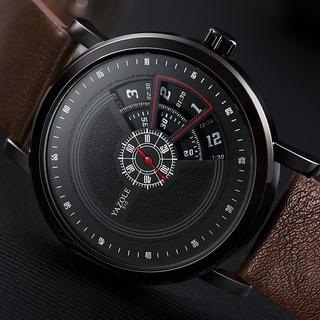 Relógio Yazole Quartzo Supreme Pulseira Em Couro Design S510
