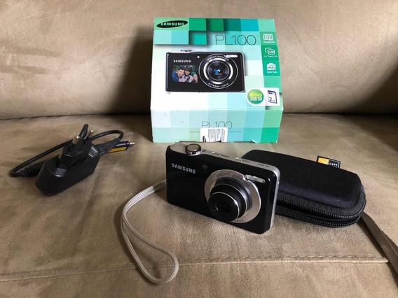 Câmera Samsung Pl100 12.2mp Preta Com Lcd Frontal