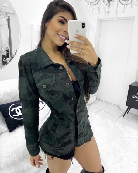 Max Jaqueta Jeans Camuflada Melinda P Ao G Cardigan Feminino