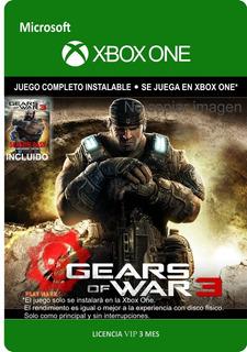 Gears Of War 3 + Season Pass Xbox One - Envío Gratis -
