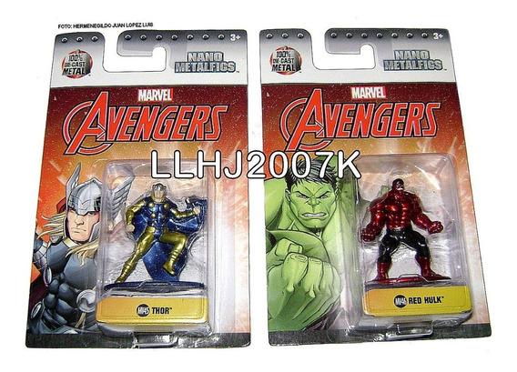 Red Hulk & Thor Avengers Nano Metalfigs Baf -- Precio C/u --