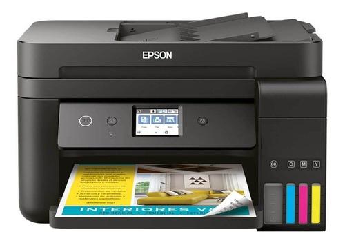 Impresora a color multifunción Epson EcoTank L6191 con wifi 110V/220V negra