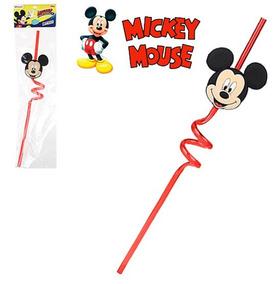 Kit C/ 10 Canudos Drink Lembrancinha Festa Tema Mickey Mouse