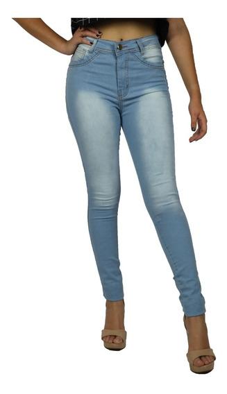 Calça Jeans Feminina Cintura Alta Skinny Lycra Promoção 2018