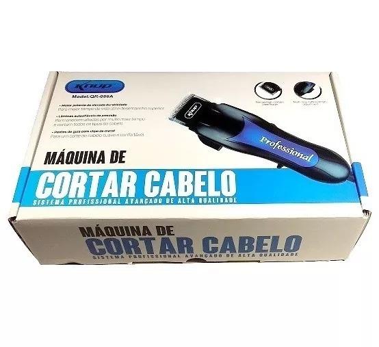 Maquina De Cabelo Barba Aparador Profissional 110v Qr-086