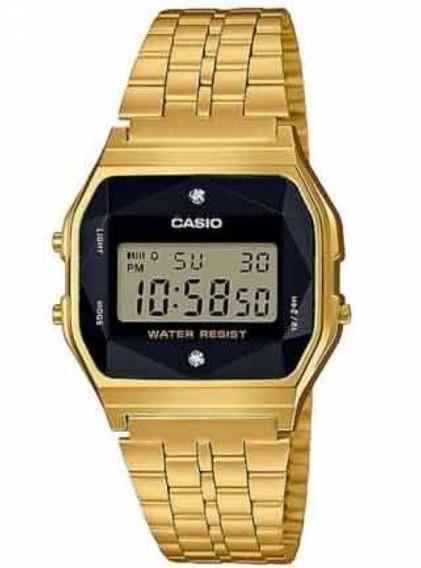 Relógio Casio Digital A159wged-1df Dourado Original