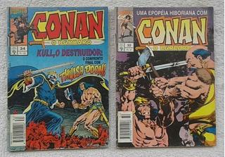 Hq Conan, O Bárbaro /abril Nº 32/34 - 2 Revistas