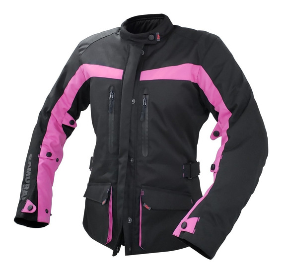Campera Moto Samurai Warrior Praga Rosa Touring Lady Mujer To