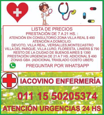 Enfermera A Domicilio Enfermeria Inyecciones Sondas Vacunas