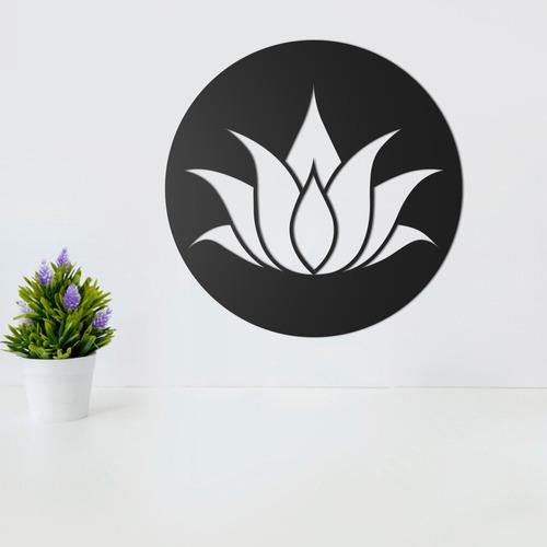 Quadro Decorativo Parede Esotérico Lótus Simples 30cm