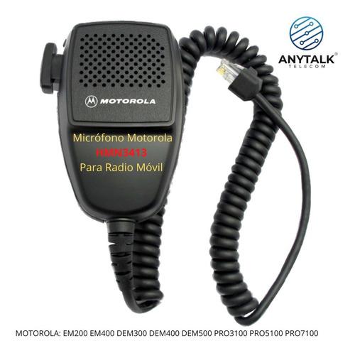 Microfono Para Radio Base Motorola Em200/em400
