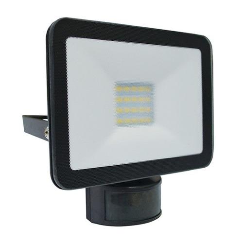 Reflector Sensor Movimiento Led 10w Interelec Ip54 L Negro