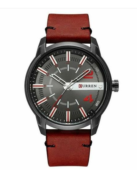 [kit] Relógio Masculino Curren - Preto E Vermelho 2 Un