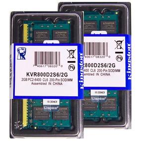 Memória Kingston Ddr2 2gb 800 E 667 Mhz Notebook 16 Chips