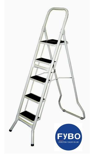 Escalera Metalica Plegable 6 Escalon Acero Envio Gratis