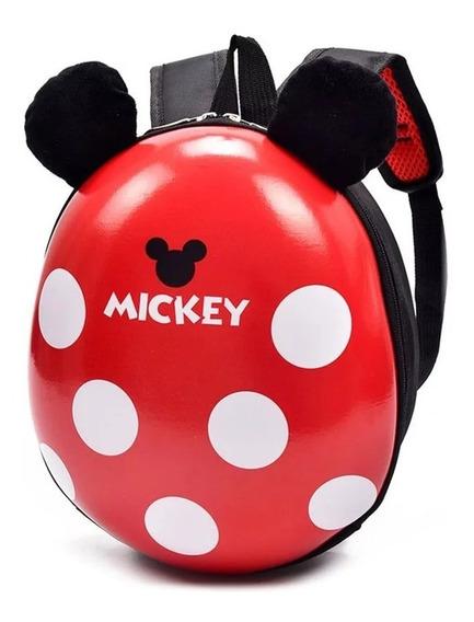 Mochila De Micky Mouse Tipo Caparazón Para Niño/niña