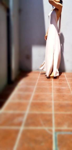 Maxi Vestido Espalda Al Aire Talle Real Caro-r Edicion Limit