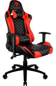 Cadeira Escritório Gamer Poltrona Reclinável Vermelha