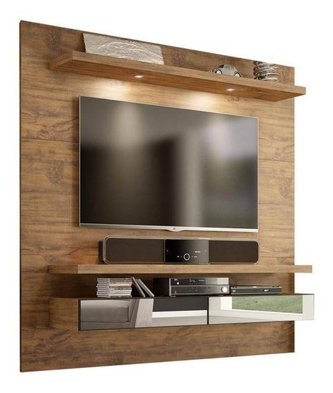 Home Painel Suspenso C/ Led E Gavetas P/ Tv Tb107e - Nobre