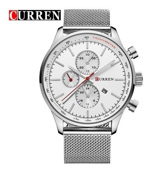 Relógio Masculino Curren Modelo 8227-silver White