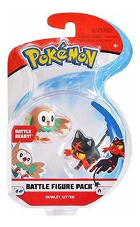 Pokemon 2 Pulgadas Batalla Figura De Acción De 2-pack, Inclu