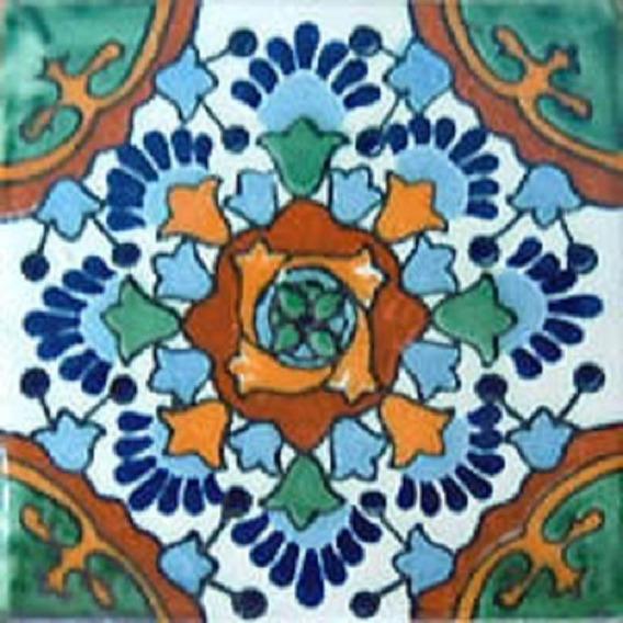 90 Azulejos De Talavera 10x10 Nube Verde