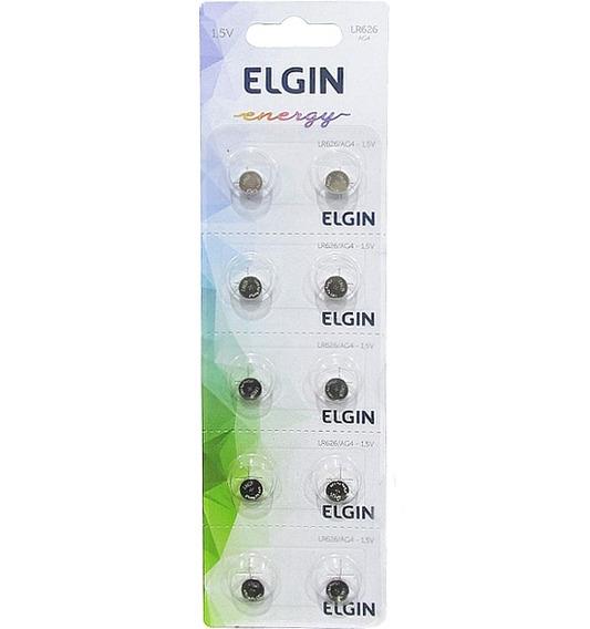Bateria Elgin Lr626 Ag4 1.5v Cartela Com 10 Unidades