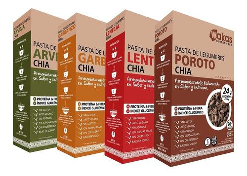 Pack 4 Pastas Proteicas Wakas - Legumbres Y Chía Sin Tacc