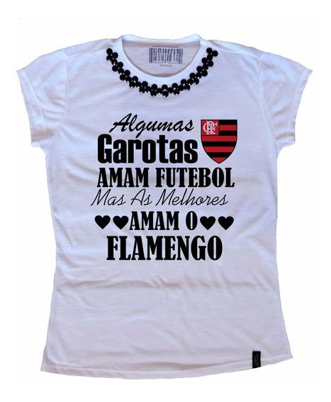 Camiseta Blusa T-shirt Feminina Time Flamengo