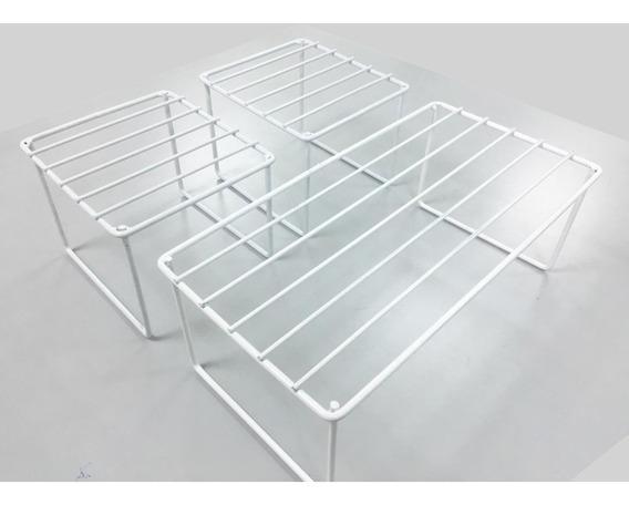 Kit Organizador De Alacena- Estantes De Apoyar Blancos