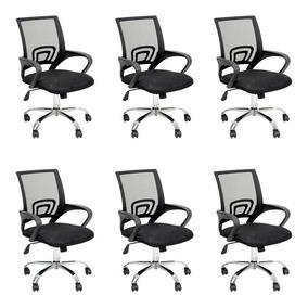 Conjunto Com 6 Cadeiras De Escritório Secretária Java Ii ...