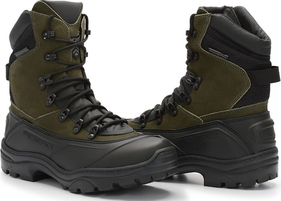 Bota Coturno Couro Acero Tiger Pro Militar Airsoft Palm Gel