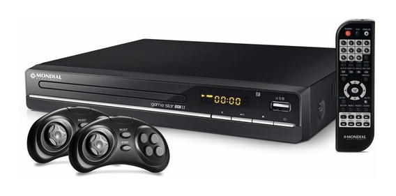 Dvd Player Mondial Game Star Ii D-14 Karaokê Usb Jogos Mp3