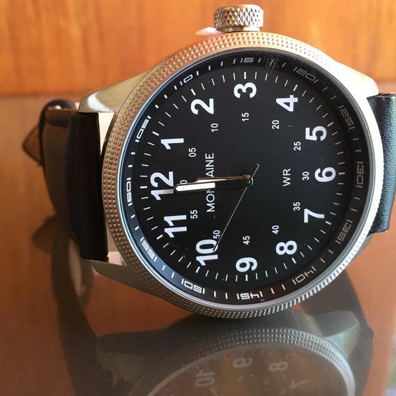 Relógio Mondaine Pulseira Couro Preto