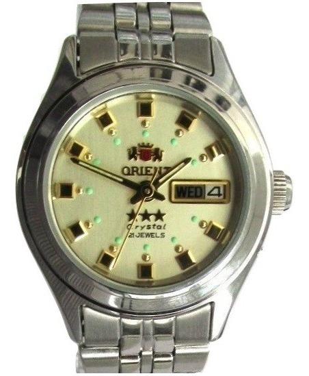 Relógio Orient Automático Feminino Fnq1x003c9 Semi Novo
