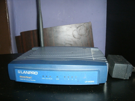 Router Lanpro Operativo Con Su Cargador