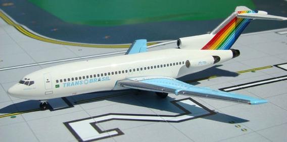 Boeing 727 Transbrasil - Aeroclassics 1/400 - Pt-tyl - Raro