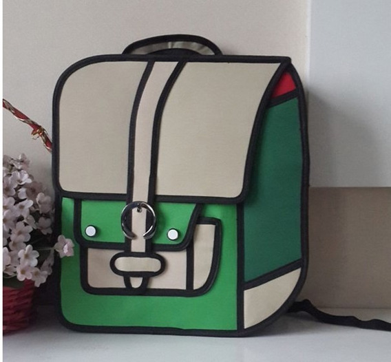 Mochila Bolso Diseño 2d 3d Cartoonbag Backpack Importada 10