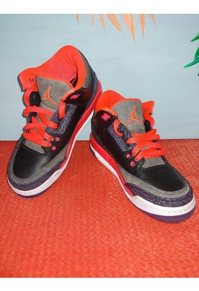 Tênis Air Jordan 3 Retro Gs Edição Limitada (infantil 34)
