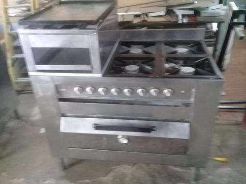 Cocina Industrial 4 Hornallas,chivitero,horno