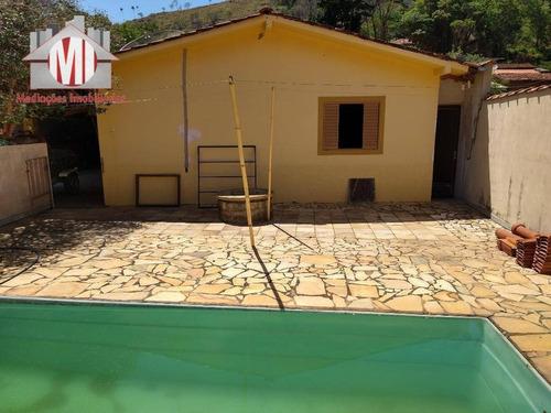 Excelente Chácara Com 03 Dormitórios, Edícula, Piscina, Pomar, À Venda, 380 M² Por R$ 235.000 - Rural - Socorro/sp - Ch0811