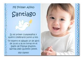 Tarjetas Bautismo Varon Con Foto En Mercado Libre Argentina