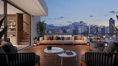 Cobertura Com 3 Dormitórios À Venda, 195 M² Por R$ 2.291.773,63 - Bigorrilho - Curitiba/pr - Co0419