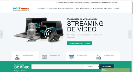 Site De Hospedagem E Streaming