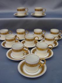 Xícaras Para Café Steatita Rica Decoração Em Ouro